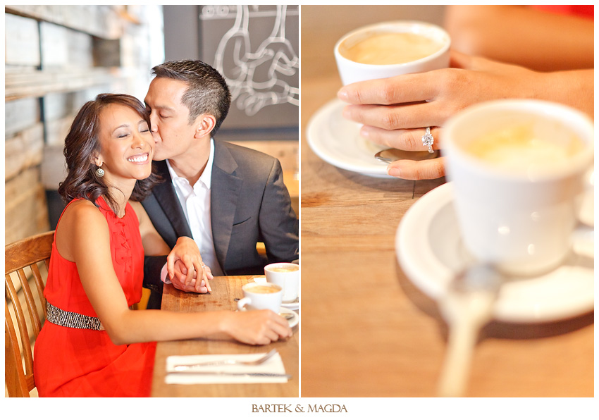 engagement photo session at les enfants terribles montreal