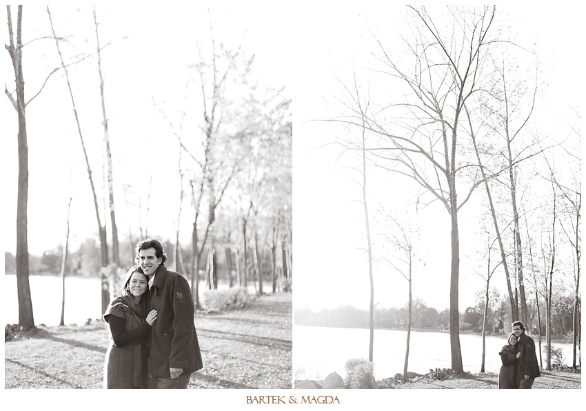 fall engagement session in montreal