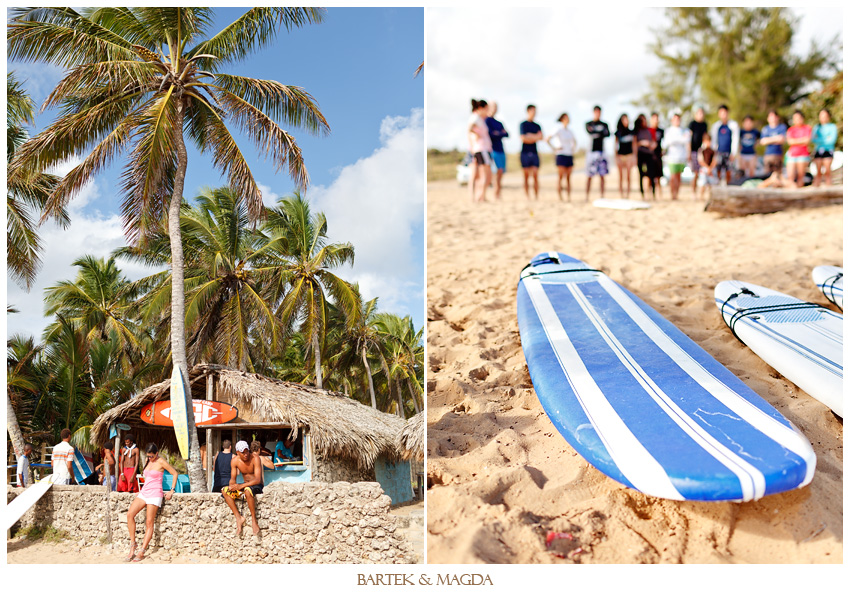 surfing wedding macao beach dominican republic