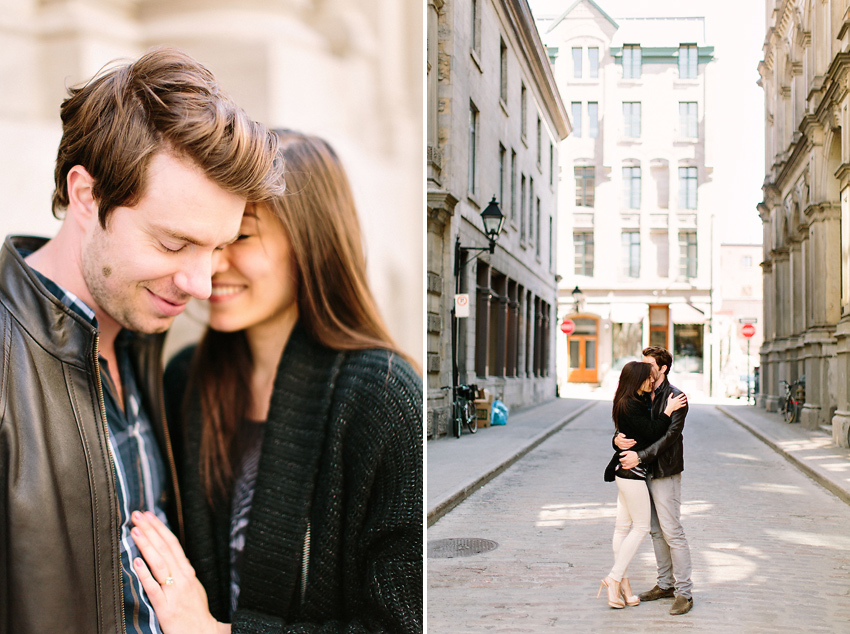 montreal old port engagement photos